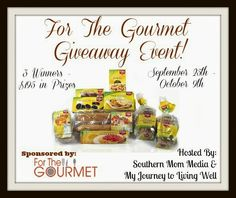 For the Gourmet #Giveaway Event: Win these delicious Gluten-free Foods!