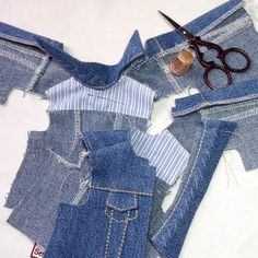 Дина Крылова (@dina70k) • Instagram photos and videos Doll Clothes Patterns, Clothing Patterns, Drop Crotch Jeans, Gotz Dolls, Jean Outfits, Barbie, Pants, Dresses, Fashion