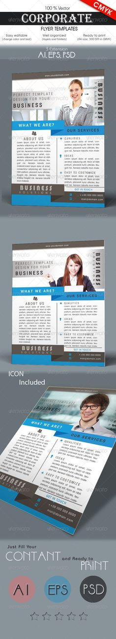 <!DOCTYPE html> The Corporate FlyerFeatures:8.511 inch with 0.25 bleed area Easy editable text Icons Included CMYK @ 300 DPI Prin