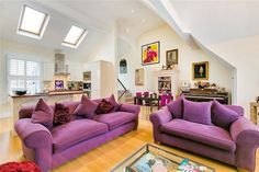 Find properties to buy in Parson's Green with the UK's largest data-driven property portal. View our wide selection of houses and flats for sale in Parson's Green. Find Property, Property For Sale, Comfy Couches, Parsons Green, Purple Sofa, Flats For Sale, Open Plan, Living Room, Interior