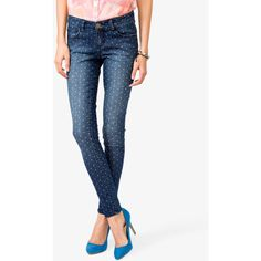 FOREVER 21 Dotted Skinny Jeans ($25)
