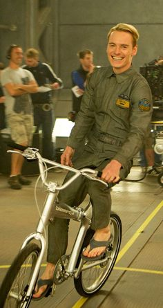michael fassbender riding a bike in prometheus... anyone wonder how long it took them to get that shot of him scoring that hoop?