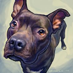 Pit Bull Painting - Hope by Sean ODaniels