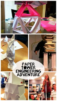 TAME Engineering Adventure: Paper Tower Challenge! This is a classic challenge, and a great way to teach kids of any age about collaboration, experimentation, and the value of learning from others. #STEM #activity #handson #engineer