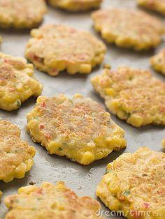 Sweetcorn fritters - comfort food