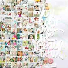 #papercraft #scrapbook #layout  You Color My Life Beautiful...