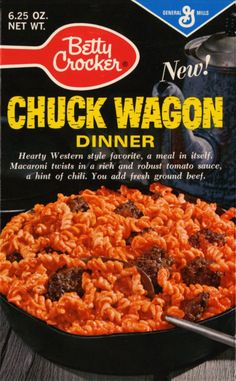 Before there was Hamburger Helper (in the there was Chuck Wagon in the Vintage Food Labels, Vintage Packaging, Food Packaging, Retro Ads, Retro Food, Vintage Advertisements, Vintage Ads, Vintage Images, Retro Recipes