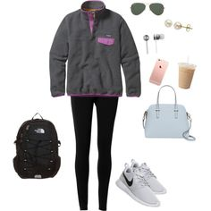 Love my new Kate Spade  by morganwagner32 on Polyvore featuring Patagonia, Max Studio, NIKE, The North Face, Kate Spade, Lord & Taylor, Ray-Ban and Beats by Dr. Dre