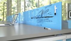 Clarus Glassboards - These dry-erase panels – for such applications as glass walls, conference rooms, lobbies and workstations – are safe and sanitary, which also makes them ideal forhospital rooms and nurses stations.