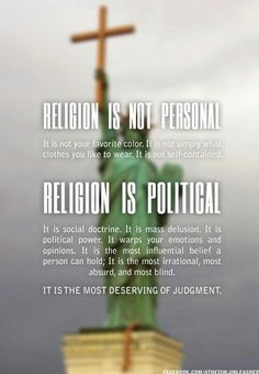 Religion is not personal but political