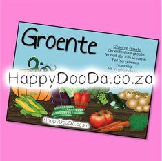'n Tema muurkaart – Groente. Hierdie produk is in Afrikaans vir leerders 4-13 jaar. Home Schooling, Afrikaans, Hdd, Homeschool, Words, Afrikaans Language, Homeschooling
