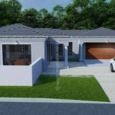 3 Bedroom House Plan – My Building Plans South Africa 5 Bedroom House Plans, Family House Plans, My Building, Building Plans, Round House Plans, Single Storey House Plans, House Roof Design, Fancy Houses, Architecture Design