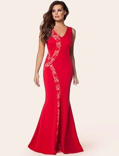 505ff8ffbc9d Lace Panel Maxi Dress Long Summer Dresses, Long Dresses, Formal Dresses,  Dress Summer