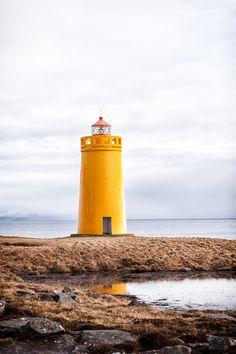 a yellow lighthouse!! Keflavik, Iceland ~ by Jens Klettenheimer, via 500px