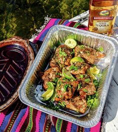 Tequila lime chicken, for your Big Green Egg or your everyday backyard grill.