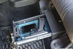 Pistol Lock Box Under Jeep Seat