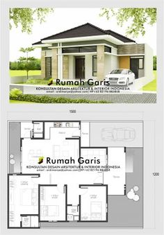 12 Tips for Contemporary Living Room Decoration Modern Bungalow House Design, Minimal House Design, Modern House Floor Plans, Modern Small House Design, Pool House Plans, Home Design Floor Plans, Duplex House Design, Bungalow Floor Plans, New House Plans
