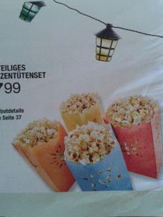 Windlichter als popcorn bags...but white