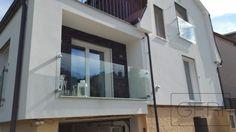 Sklenené zábradlie Francúzskeho okna, dodatočná montáž do 200mm zateplenia
