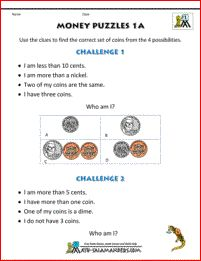 Here you will find our selection of Money Worksheets for kids. These worksheets are aimed at grade level, and involve counting out amounts of money in quarters, dimes, nickels and pennies. Counting Money Worksheets, 1st Grade Math Worksheets, Printable Math Worksheets, Worksheets For Kids, Math Resources, Math Activities, Counting Coins, Learn To Count, Educational Crafts
