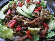 Fajita Salad - vegan recipe