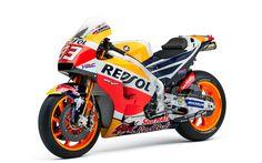 Download imagens Moto de corrida, Honda RC213V, Repsol, 2017, MotoGP, Marc Marquez, Honda