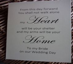 To My Dad On Wedding Day Of All The Walks We Have Taken This Is Favorite Card Cards