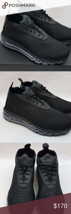 free shipping cd840 313f1 Nike NikeLab Men s Air Max Woven Boot Black Shoes Nike NikeLab Men s Air Max  Woven Boot
