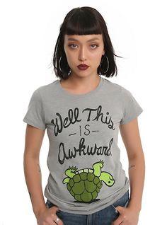 Awkward Turtle Grey Girls T-Shirt, GREY