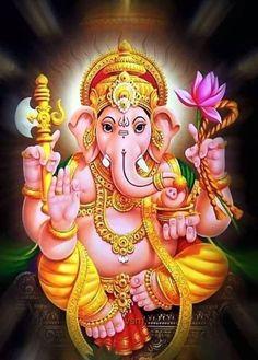 Lord Ganesha Paintings, Lord Shiva Painting, Ganesha Art, Krishna Painting, Shiva Hindu, Hindu Deities, Hindu Art, Ganesha Pictures, Ganesh Images