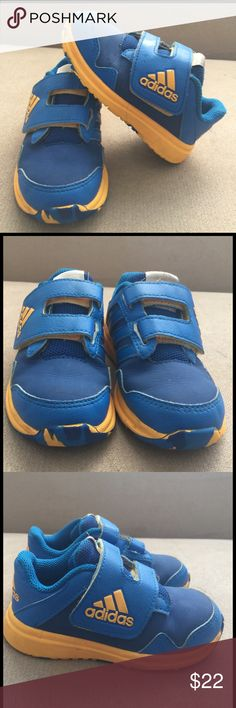 Adidas toddler size 7. Adidas Used but perfect condition. Blue and yellow color. Adidas Shoes Sneakers