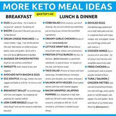 ⭐️KETO MEAL IDEAS⭐️ By Keto doesn't have to be boring! Make Keto work for you, not against you. Here are some Keto Meal Ideas… Desserts Sains, Starting Keto Diet, Keto Food List, Keto Diet Grocery List, Diet Menu, Keto Diet For Beginners, Diet Meal Plans, Easy Keto Meal Plan, No Carb Meal Plan