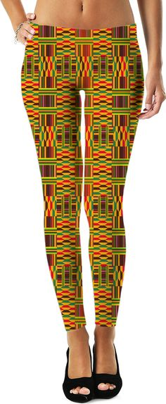 $44 Colourful Kente Leggings from #Saytoons #RageOn https://www.rageon.com/products/colourful-kente-leggings on RageOn!