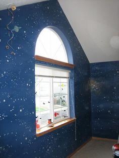 space and star theme murals.JPG provided by Melissa Barrett Paint Design Wall Murals Portland 97223