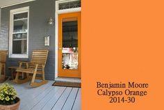 dark paint / orange door