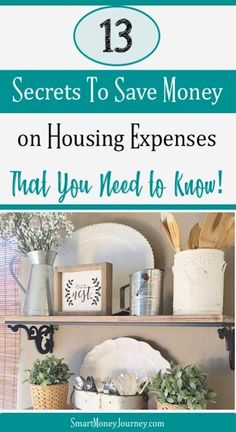 13 Surprising Ways to Save on Housing Costs - Smart Money Journey Are you paying too much for housing costs? Let us show you these incredible secrets to saving money on housing costs. Ways To Save Money, Money Tips, Money Saving Tips, Money Savers, Saving Ideas, Household Expenses, Household Budget, Frugal Living Tips, Frugal Tips