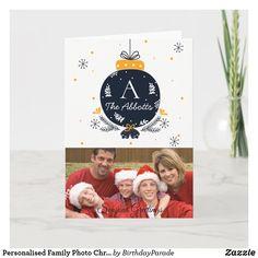 Personalised Family Photo Christmas/NYE Cards Christmas Photo Cards, Family Christmas, Christmas Photos, Holiday Cards, Party Hats, Nye, Family Photos, Invitations, Seasons