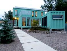 Container House - Shipping Container Homes: Ecosa Design Studio - Flagstaff, Arizona - Six Shipping Container Home, - Who Else Wants Simple Step-By-Step Plans To Design And Build A Container Home From Scratch? Building A Container Home, Container Buildings, Storage Container Homes, Container Architecture, Architecture Design, Cargo Container, Sustainable Architecture, Contemporary Architecture, Sea Container Homes