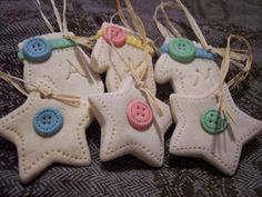 Salt Dough Ornaments or summer break scramble... | Geekabella (~craft clay & Christmas) - #saltdough #crafts #sewing #ornaments #Christmas - pb†