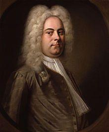 Georg Friedrich Haendel ou Händel (George Frideric Handel en anglais, comme il l'écrivait lui-même) est un compositeur allemand, devenu sujet britannique, né le 23 février 1685 à Halle et mort le 14 avril 1759 à Londres. Haendel personnifie souvent de nos jours l'apogée de la musique baroque aux côtés de Jean Sébastien Bach. Quelques œuvres très connues: Le Messie, ses concertos pour orgue et concertos grossos, ses musiques de plein air (Water Music et Music for the Royal Fireworks).