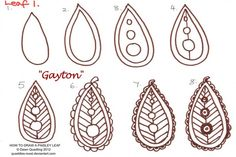 How to draw Paisley Leaf 01 Gayton by Quaddles-Roost on DeviantArt