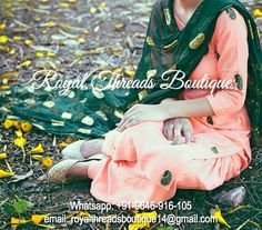 Get this amazing dress custom made at Royal Threads Boutique. To place an order or for any inquiry feel free to whatsapp us @ +91-9646-916-105 or email us at royalthreadsboutique14@gmail.com