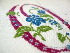 Developing an Embroidered Spot Sampler: Initials – Needle'nThread.com