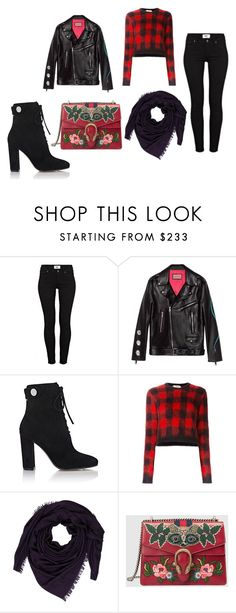 """""""104"""" by iliventsov ❤ liked on Polyvore featuring Paige Denim, Gucci, Gianvito Rossi, N°21 and Hermès"""