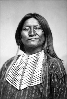Chief Heap Wolves (probably Esa-dowa) Comanche. Photographed between 1869 and 1872.
