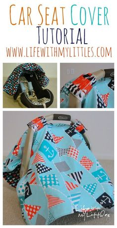 Diy Sewing Projects Car Seat Cover Tutorial: A cute, easy canopy for your baby's car seat that is durable and looks great! - Car Seat Cover Tutorial: A cute, easy canopy for your baby's car seat that is durable and looks great! Baby Sewing Projects, Sewing Projects For Beginners, Sewing For Kids, Free Sewing, Sewing Hacks, Sewing Tips, Sewing Ideas, Baby Sewing Tutorials, Dress Tutorials