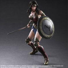 Dawn of Justice Batman v Superman Play Arts Kai Action Figure - Wonder Woman @Archonia_US