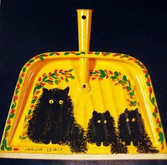 Painted dustpan Colorful Paintings, Paintings For Sale, Maudie Lewis, Folk Fashion, Naive Art, Outsider Art, Retro Art, Cat Art, Art History