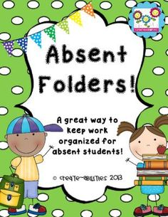 Absent Folders!! FREE!! from Create abilities on TeachersNotebook.com -  (7 pages)  - Absent Folders!! FREE!!
