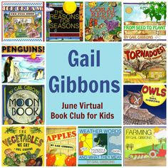 Virtual Book Club for Kids Author of the Month: Gail Gibbons!  Wonderful author! My kids love to read and reread her books!! #gailgibbons #kidsbooks #booksforkids